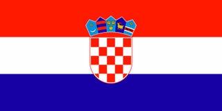 Bandeira de Croatia ilustração stock