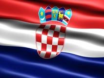 Bandeira de Croatia Foto de Stock Royalty Free