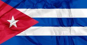 Bandeira de Cuba Imagens de Stock Royalty Free