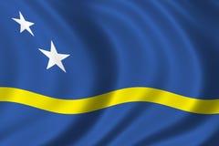 Bandeira de Curaçau ilustração royalty free