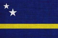 Bandeira de Curaçau no linho velho Fotografia de Stock