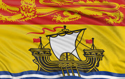 bandeira de 3D Novo Brunswick Fotografia de Stock Royalty Free