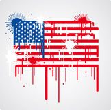 Bandeira de derretimento dos EUA Fotos de Stock Royalty Free