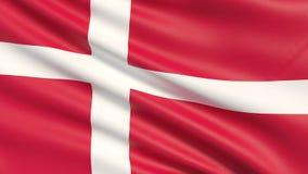 A bandeira de Dinamarca ilustração stock