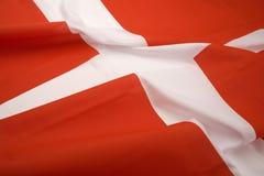 A bandeira de Dinamarca Imagens de Stock Royalty Free