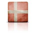 Bandeira de Dinamarca ilustração do vetor
