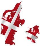 Bandeira de Dinamarca Fotografia de Stock Royalty Free