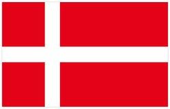 Bandeira de Dinamarca Foto de Stock