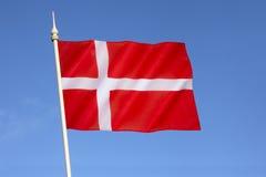 Bandeira de Dinamarca - Dannebrog Fotografia de Stock Royalty Free