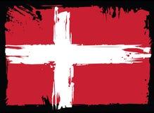 Bandeira de Dinamarca Elemento do projeto Imagens de Stock