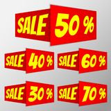 Bandeira de dobramento da venda imagem de stock royalty free