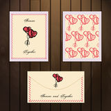 Bandeira de dois corações Imagem de Stock Royalty Free