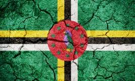 Bandeira de Domínica Foto de Stock Royalty Free
