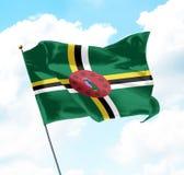 Bandeira de Dominica Imagem de Stock Royalty Free
