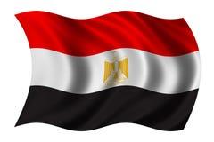 Bandeira de Egipto Fotografia de Stock Royalty Free