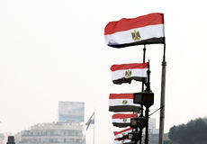 Bandeira de Egipto foto de stock