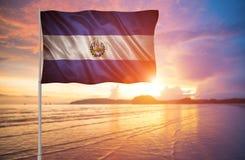Bandeira de El Salvador Fotografia de Stock Royalty Free