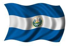 Bandeira de El Salvador Fotografia de Stock