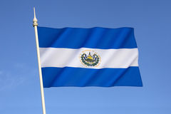 Bandeira de El Salvador Fotos de Stock Royalty Free