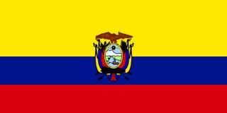 Bandeira de Equador ilustração do vetor