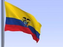 Bandeira de Equador Fotografia de Stock Royalty Free
