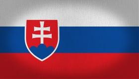 Bandeira de Eslováquia Fotografia de Stock
