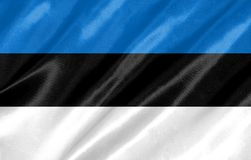 Bandeira de Estónia imagem de stock