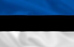 Bandeira de Estónia ilustração do vetor