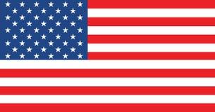 Bandeira de Estados Unidos da América As proporções e a cor corretas Fotografia de Stock Royalty Free