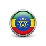 Bandeira de Etiópia Foto de Stock Royalty Free