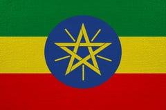 Bandeira de Etiópia na lona ilustração stock
