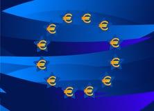 Bandeira de Europa do dinheiro de Europa Fotografia de Stock Royalty Free