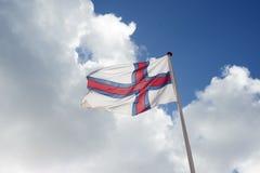 Bandeira de Faroe Island Imagem de Stock