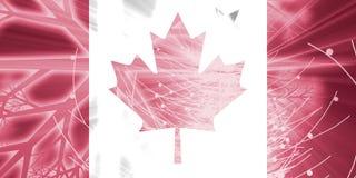 Bandeira de feriados do Natal de Canadá ilustração stock