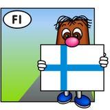 A bandeira de Finlandia Fotos de Stock