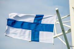 Bandeira de Finlandia Foto de Stock