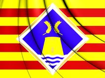 Bandeira de Formentera, Espanha Foto de Stock