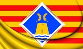 Bandeira de Formentera, Espanha Foto de Stock Royalty Free