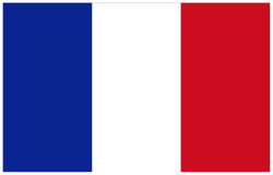 Bandeira de France Imagem de Stock