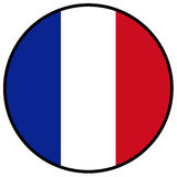 Bandeira de France Fotos de Stock Royalty Free