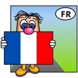 A bandeira de France, Tricolore Fotografia de Stock