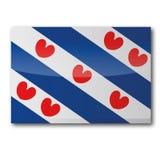 Bandeira de Friesland imagem de stock royalty free
