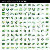 Bandeira de Gabão, ilustração do vetor Imagens de Stock Royalty Free