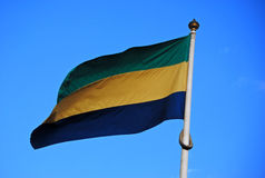 Bandeira de Gabon Fotos de Stock Royalty Free