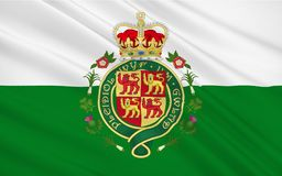 A bandeira de Gales é um país de que seja a parte do Reino Unido Ilustração do Vetor