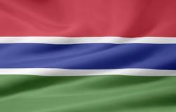 Bandeira de Gambia Imagem de Stock Royalty Free