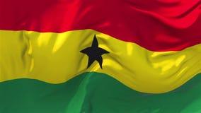 Bandeira de Gana que acena no fundo sem emenda contínuo do laço do vento ilustração stock