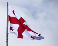 Bandeira de Geórgia imagens de stock royalty free
