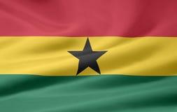 Bandeira de Ghana Imagem de Stock