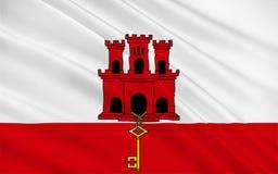 Bandeira de Gibraltar imagem de stock